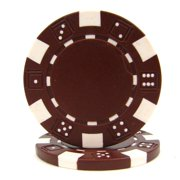50 Striped Chip, 11.5gm, Brown By Trademark Poker Ship from US by
