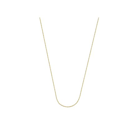 14k Yellow Gold Light Rope Chain 0.6mm 18-inch