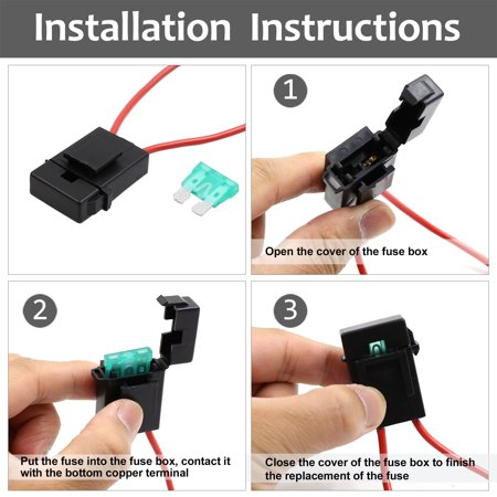 5pcs Universal DC 32V Waterproof Car In Line Blade Style Fuse Holder w 30A Fuse - image 1 of 4