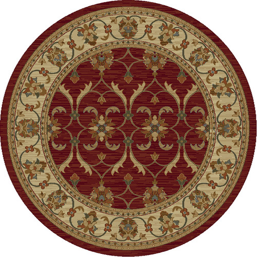 KAS Rugs Lifestyles Red/Ivory Agra Area Rug