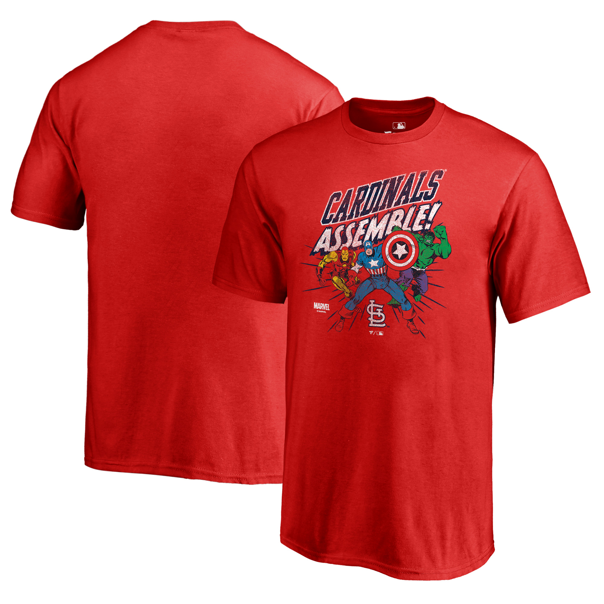 St. Louis Cardinals Fanatics Branded Youth Marvel Avengers Assemble T-Shirt - Red