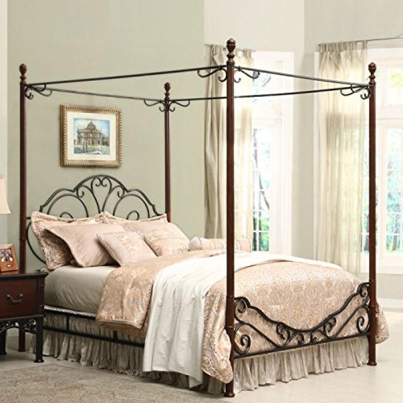 Home Creek Bronze Metal Canopy Bed