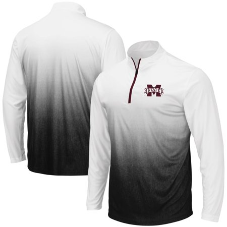 Mississippi State Bulldogs Colosseum Magic Team Logo Quarter-Zip Jacket - Gray Gonzaga Bulldogs Jacket