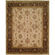 Kalaty Rug Oushak Ivory/Brown Hand-Knotted Area Rug - 4' x 6'