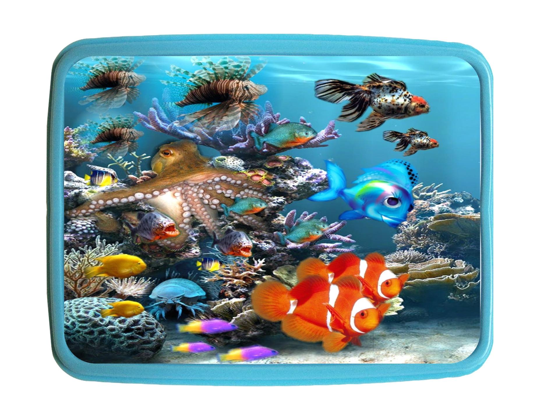 Lunchbox Pets Aquarium Fish Kids Bento Lunch Box With 3 Compartment Food Container Walmart Com Walmart Com