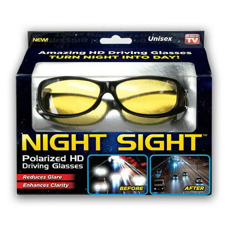 Night Sight Polarized HD Night Vision Glasses As Seen On (Polarised Vision)