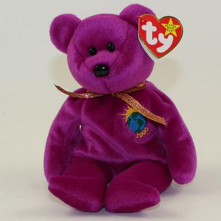 TY Beanie Baby - MILLENNIUM the Bear (Spelling Error: 1 N = Millenium) MWMTs