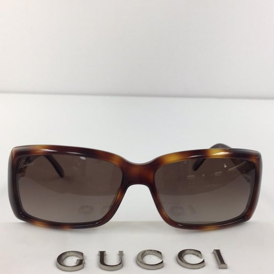 d30d55d53ba Gucci - Gucci GG 3590 S 5LLA Brown Gold Plastic Sunglasses 57mm ...