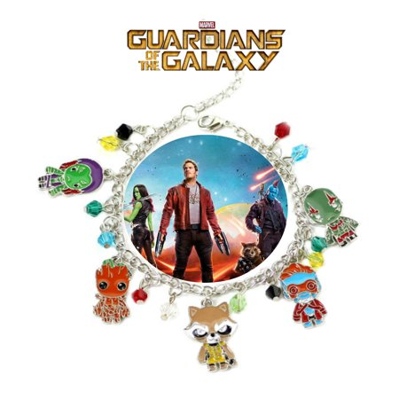 Guardians of the Galaxy Charm Bracelet Movie Series Jewelry Multi Charms - Wristlet - Superheroes Brand Marvel Movie Collection for $<!---->