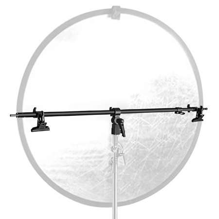 Neewer Studio Video Reflector Holder Arm - 39.7 inches/101 Centimeters Retractable Telescopic Crossbar with 2 Pieces Clamps for Light Stand, Reflectors, Backdrops for Product Portrait Photography ()