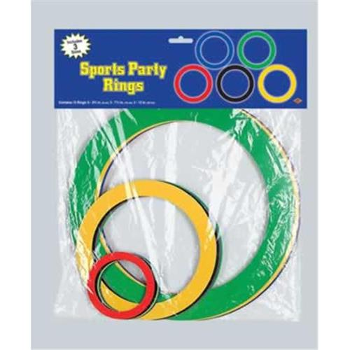 Beistle - 55363 - Pkgd Sports Party Rings- Pack of 12
