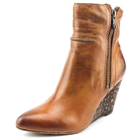 Frye Regina Seam Wedge-Smvle Open Toe Leather Wedge Heel