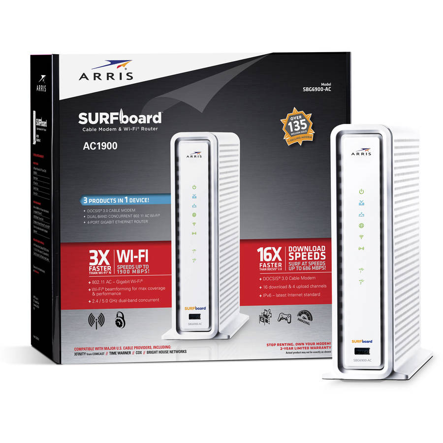 ARRIS SURFboard SBG6900-AC Cable Modem with AC1900 WiFi Router