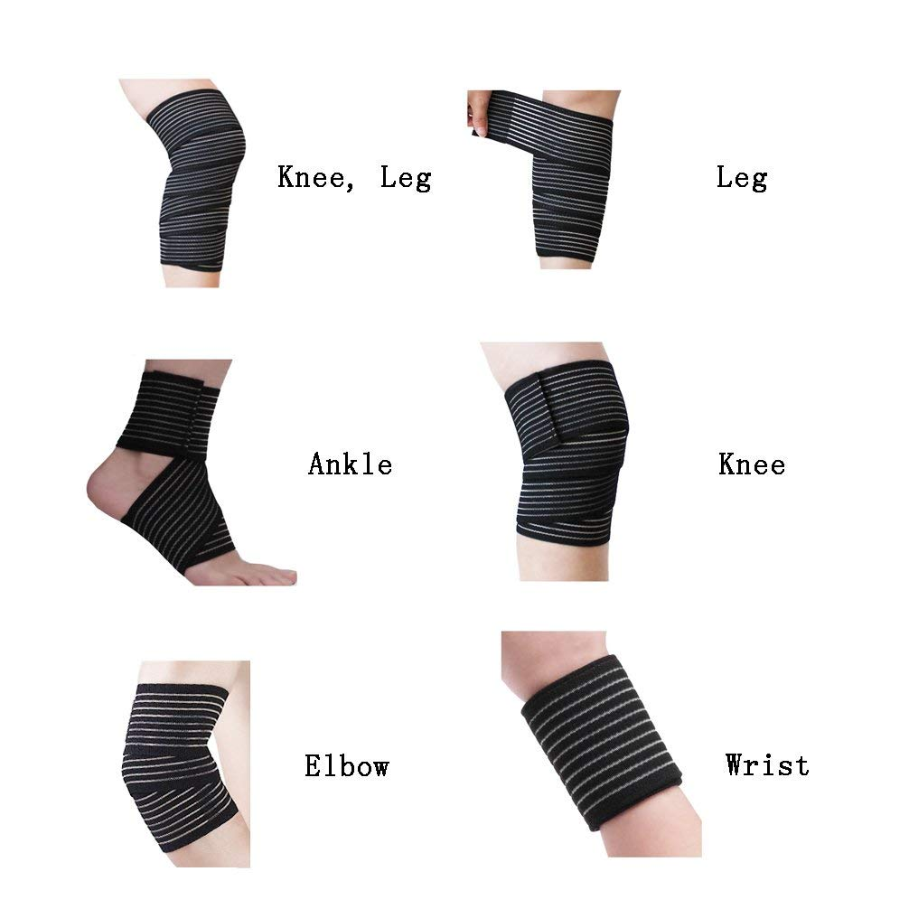 e101a4fe67 VGEBY 1 PCS Elastic Breathable Wrap Ankle Support Brace Compression Knee  Elbow Wrist Ankle Hand Support Wrap Sports Bandage Strap with Hook & Loop  Fastener ...