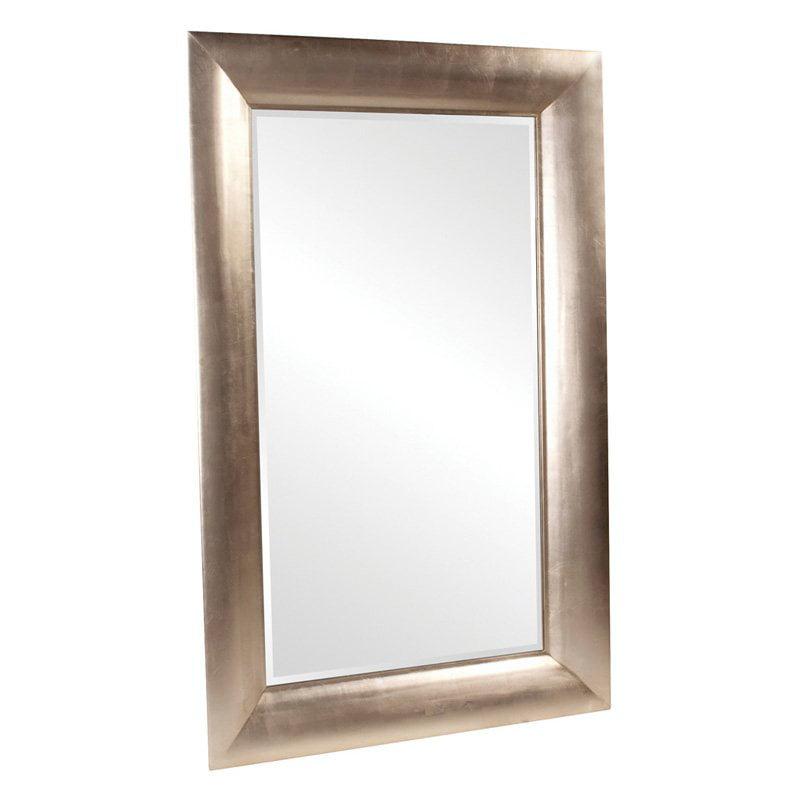 Howard Elliott Barron Silver Leaning Floor Mirror 52w X 80h In