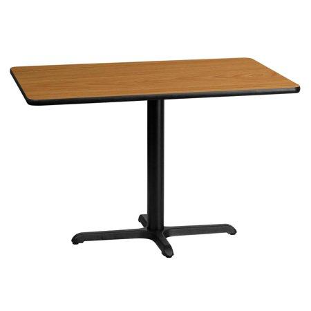 30'' x 45'' Rectangular Natural Laminate Table Top with 22'' x 30'' Table Height Base (Rectangular Natural Base)