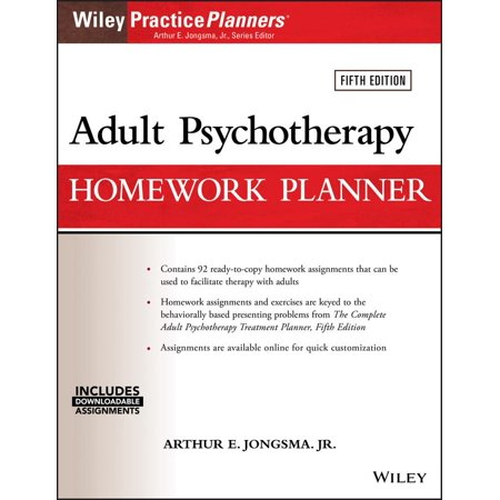 Adult Psychotherapy Homework Planner for $<!---->