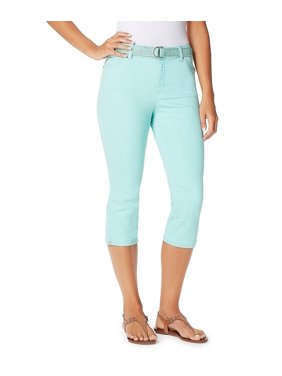 Bandolino Mandie Twill Capris With Piping Turquoise 12