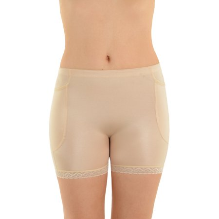 Womens Padded Shorts Buttock Enhancement Padded Panties Nude or Black Shapewear - Nude Hairy Women