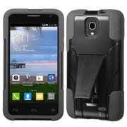 For A845L One Touch Pop Star Black Inverse Advanced Armor Stand Protector Cover