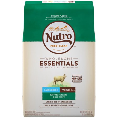 NUTRO WHOLESOME ESSENTIALS Adult Large Breed Dry Dog Food Pasture-Fed Lamb & Rice Recipe, 30 lb. Bag