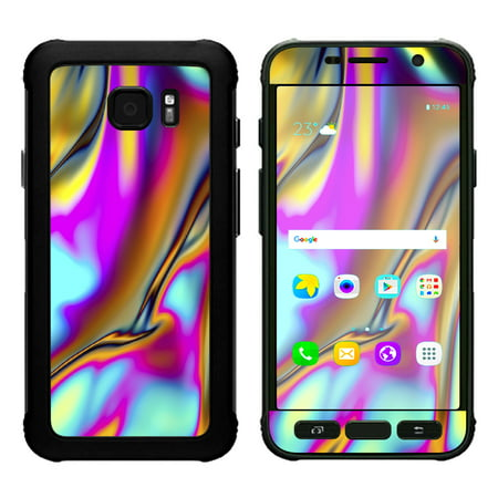 Skin Decal For Samsung Galaxy S7 Active / Oil Slick Resin Iridium Glass Colors