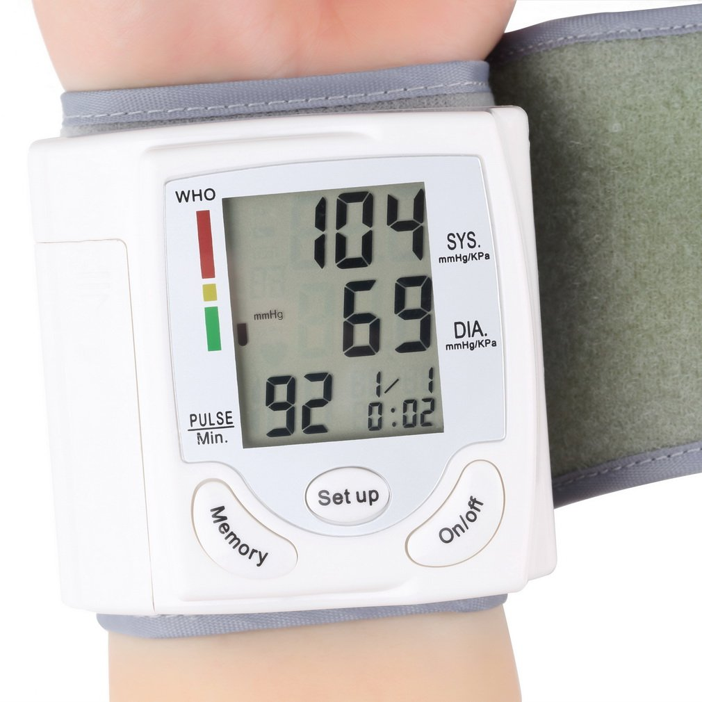 Digital Blood Pressure Monitor Wrist Cuff Automatic Digital Sphygmomanometer Portabel Easy To Caries