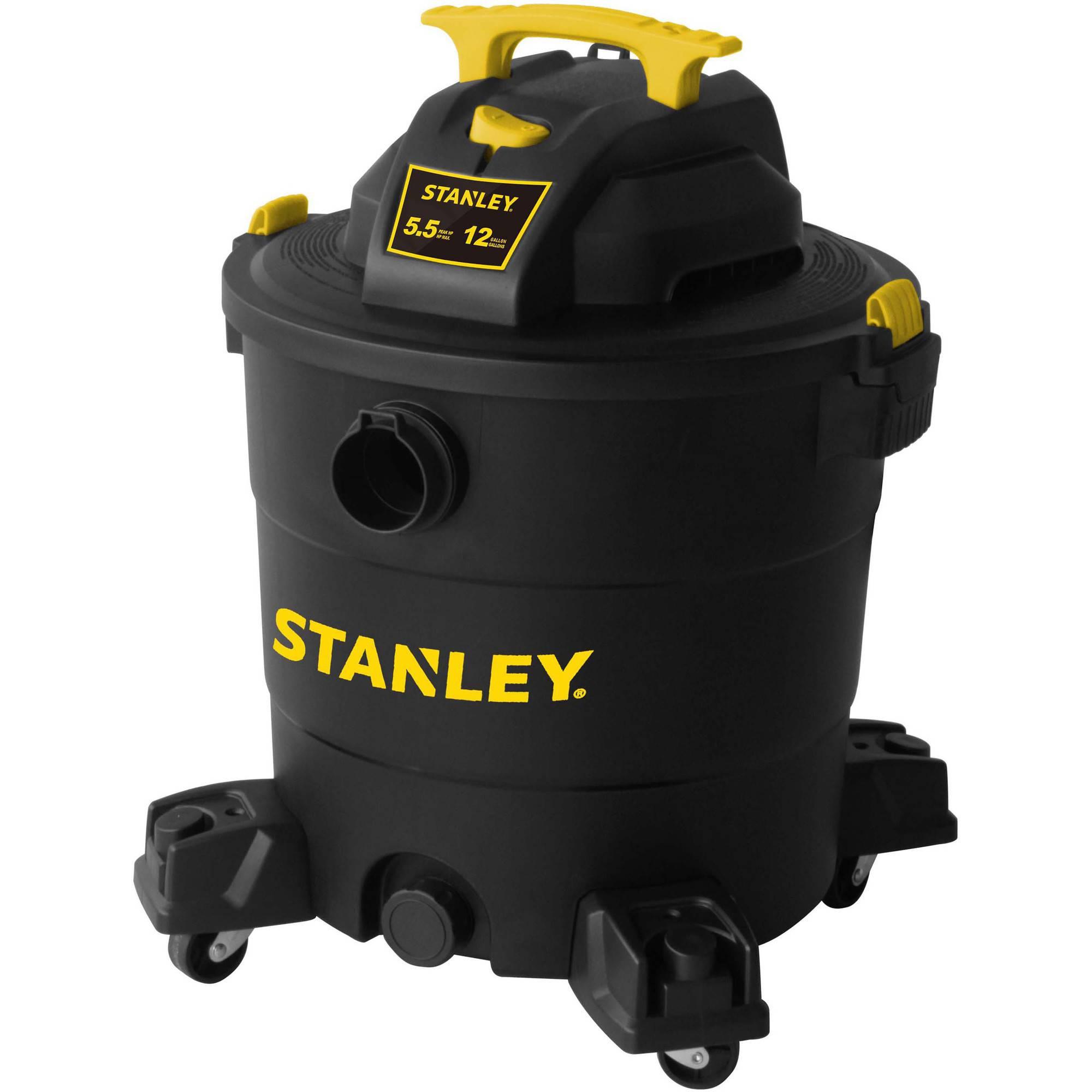 Stanley  12 gallon, 6-peak horse power, wet dry vaccum