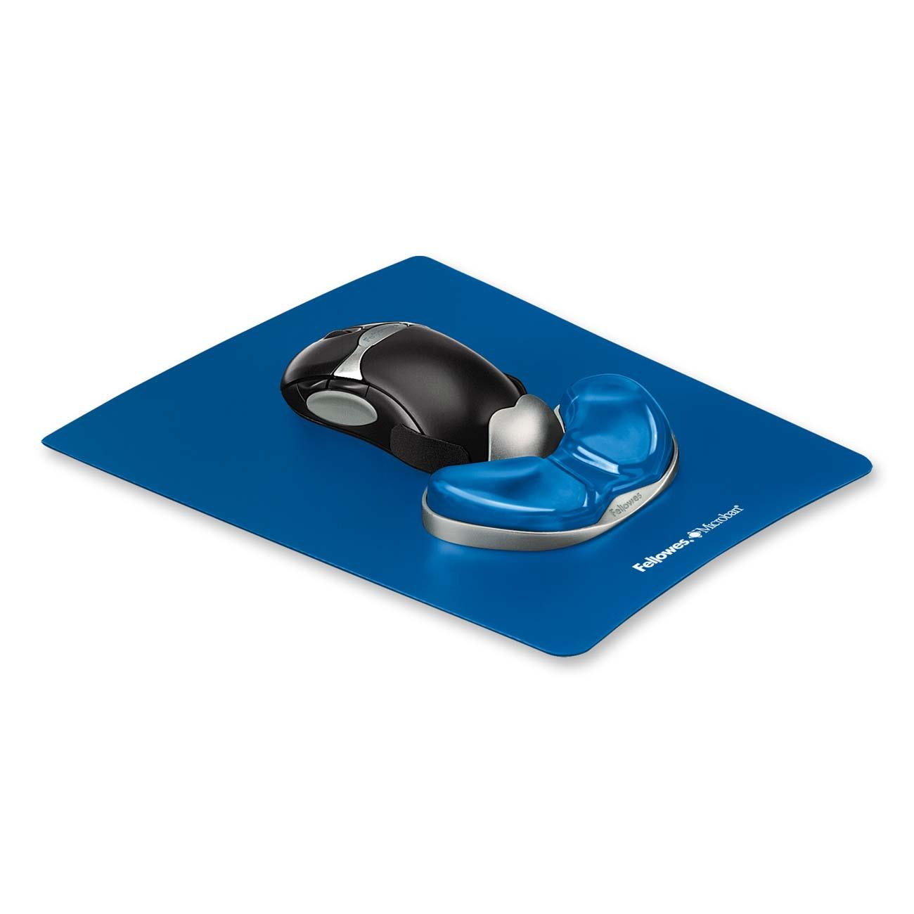 Fellowes Gliding Palm Support with Microban Protection, Blue