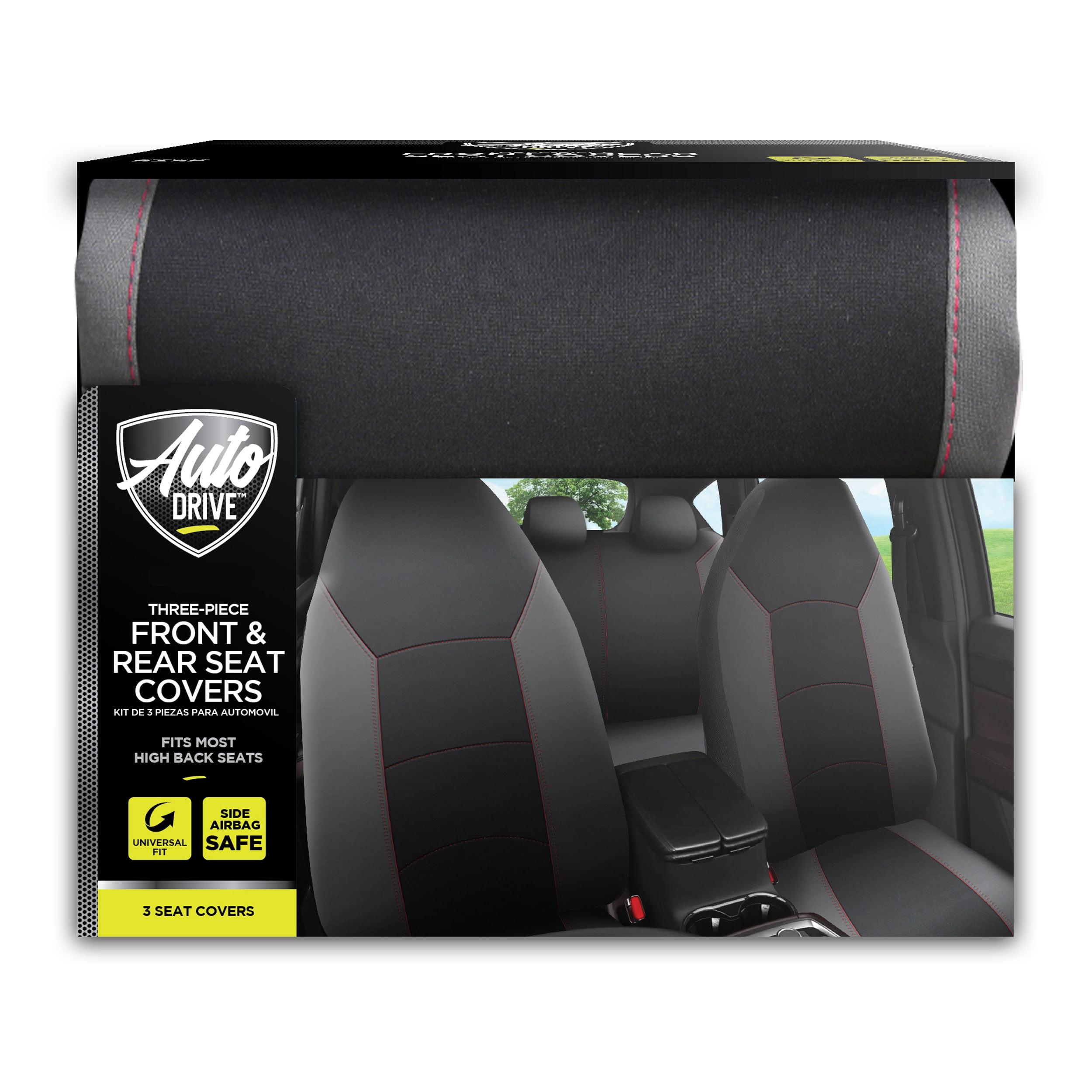 Front Pair 1+1 MREHDB035 Mr E Saver/© Heavy Duty Black Waterproof Car Seat Covers