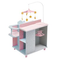 Olivia's Little World - Polka Dots Princess Baby Doll Changing Station - Grey