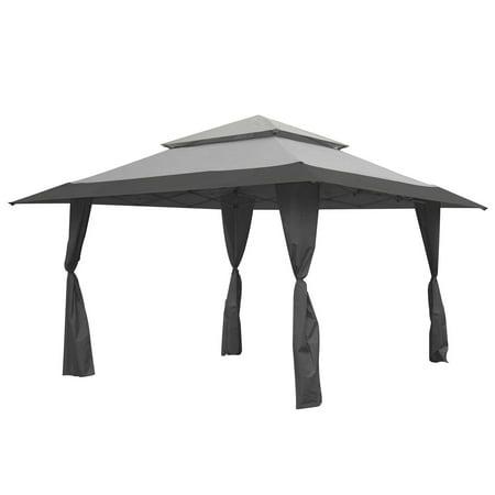 Tmnt Foot - Z-Shade 13 x 13 Foot Instant Gazebo Canopy Tent Outdoor Patio Shelter, Gray