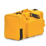 """Sassi Designs Gold Polyester With Detachable Front Pocket Duffel Team Bag 22"""""""