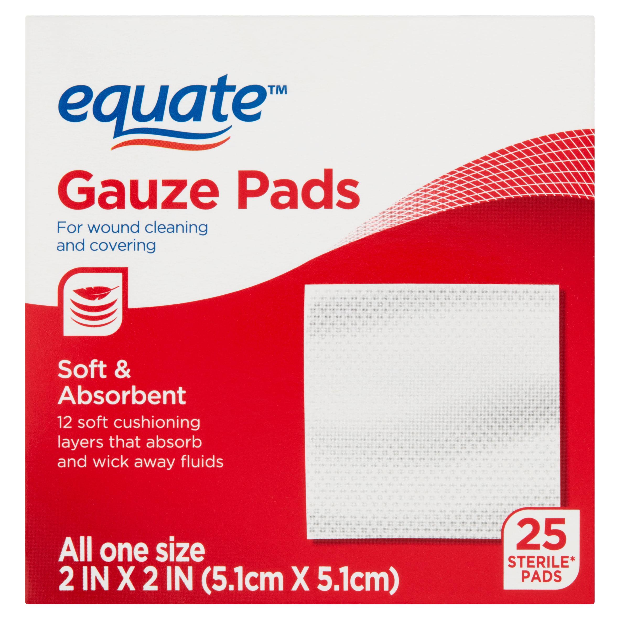equate gauze pads 25 count walmart com