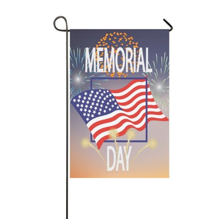 MYPOP Patriotic Memorial Day USA Flag Long Garden Flag Banner 12 x 18 inch