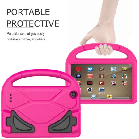 Portable Kids lovely shockproof drop resistance Highly Durable Case Cover For Amazon Kindle Fire HD 7 2015/2017 Kids Shock Proof Case Perfect Gift ()