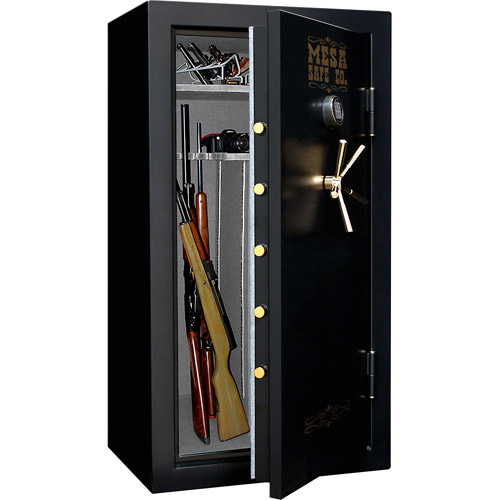 Mesa Safe 30-Gun MBF6032E Fire Resistant Safe with Lock, Black