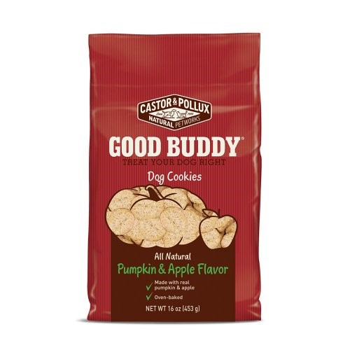 (2 Pack) Castor & Pollux Good Buddy Pumpkin & Apple Dry Dog Treat, 16 oz