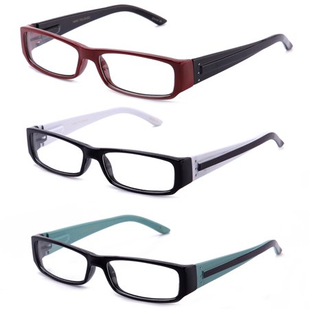 Casual Fashion Horned Rim Rectangular Frame Clear Lens Eye Glasses (Big Glasses Frames)