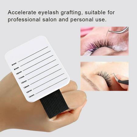 Yosoo 8-15mm Makeup Eyelash Tray Strip Stand Eyelash Extension Hand Plate Lashes Grafting Holder , Makeup Tool, False Eyelashes - Comic Strip Makeup