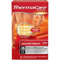 ThermaCare Lower Back & Hip Pain Therapy Heatwraps 2 ct Box