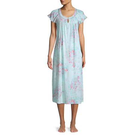 Floral Cotton Blend Nightgown