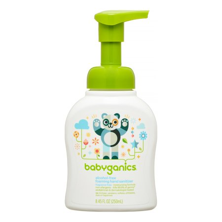 Babyganics Alcohol-Free Foaming Hand Sanitizer, Fragrance Free, 250