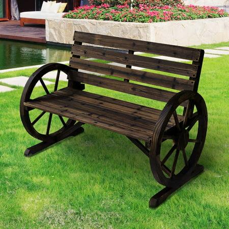 Patio Garden Wooden Outdoor Bench Rustic Wood Design Furniture