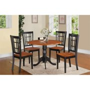 East West Furniture DLNI3-BCH-W 3 Piece Small Kitchen Table Set-Kitchen Table and 2 Dinette Chairs