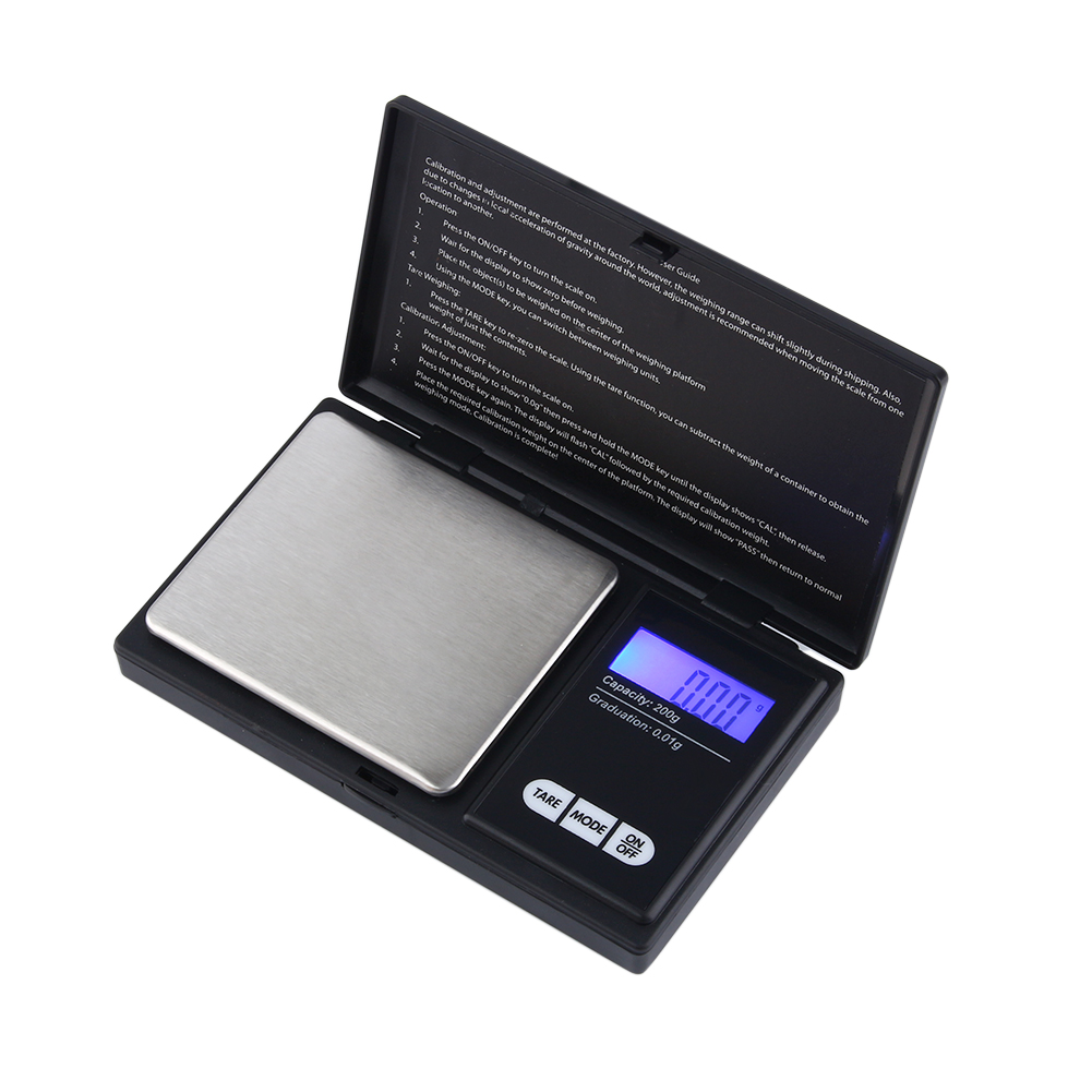 1//2X Pocket Digital Scales Jewellery Gold Weighing Mini LCD Electronic 0.1g 200g