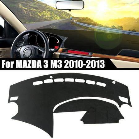 Car Inner Dashboard Cover Dashmat Dash Sun Mat Protective Carpet Pad for Mazda 3 M3 2010-2013 Caramel Dash Cover Mat