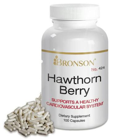 - Bronson Hawthorn Berry 565 mg, 100 Capsules