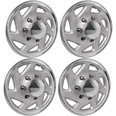 "SET OF 4 FORD Truck Van 16"" 7 Lug/Slot Full Wheel Covers Hub Caps Steel Rim"