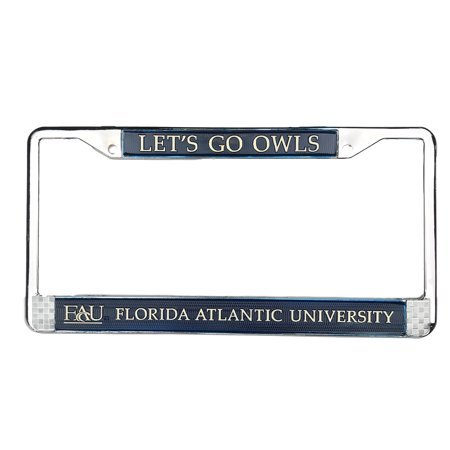University Of Florida License Plate Frames - Florida Atlantic University (FAU) Owls Chrome Metal License Plate Frame